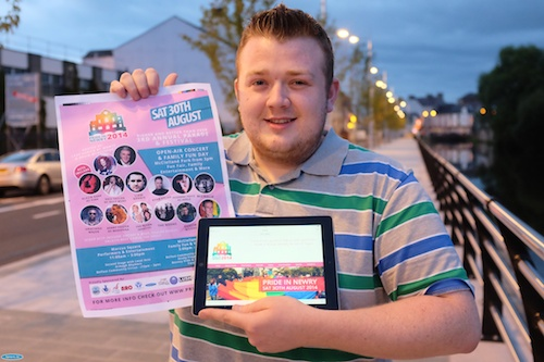 Cahal Lynch of Identity Graphics who designed the Pride in Newry Festival posters and the Festival's new website at www.prideinnewry.com Photograph: Columba O'Hare