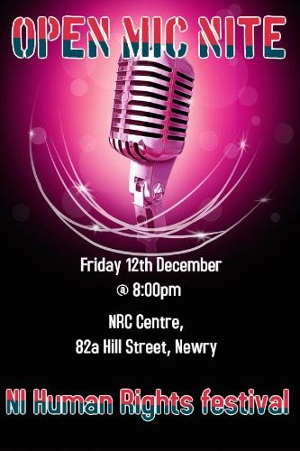 Open Mic Night at NRC Centre Friday 12th December 2014